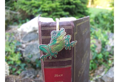 6729 J MARQUE PAGE TRES FIN FIGURINE GRENOUILLE NEUF