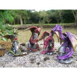 13549 QUATRE DRAGON COULEUR HEROIC FANTASY FIGURINE