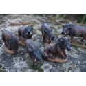 NA0629 FIGURINE STATUETTE FAMILLE SANGLIER MARCASSIN CHASSE GIBIER
