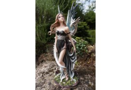 143817 STATUETTE FIGURINE FEE FAIRY +DRAGON  HEROIC FANTASY FEES
