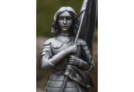 RE0269   FIGURINE STATUETTE REPRODUCTION  JEANNE   D ARC   EN  ARMURE