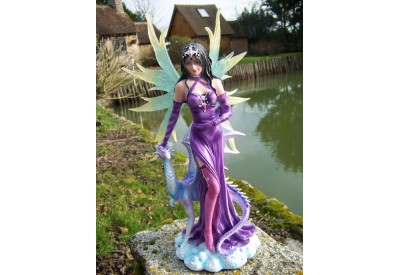 14367 GRANDE FIGURINE STATUETTE FEE ELFE DRAGON HEROIC FANTASY GM 20%