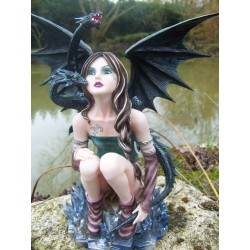 15246 GRANDE STATUETTE FIGURINE FEE FAIRY HEROIC FANTASY GM LES ALPES FEES
